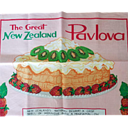 Vintage New Zealand Unused Linen Towel