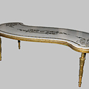 Coffee Table, Inlaid Marble, gilt bronze frame, high end elegant
