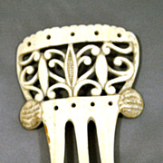 Asian Bone, Hand Carved Hair Comb