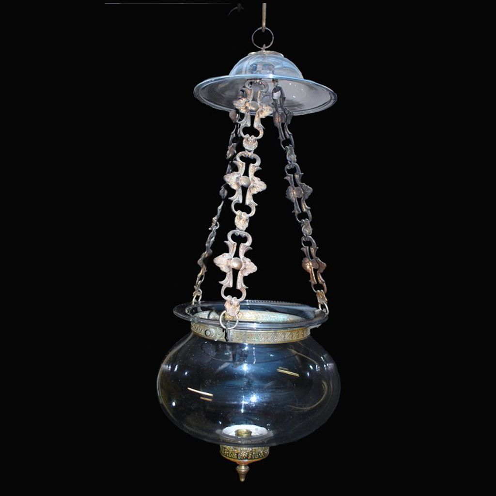 Clear Bell Hanging Light