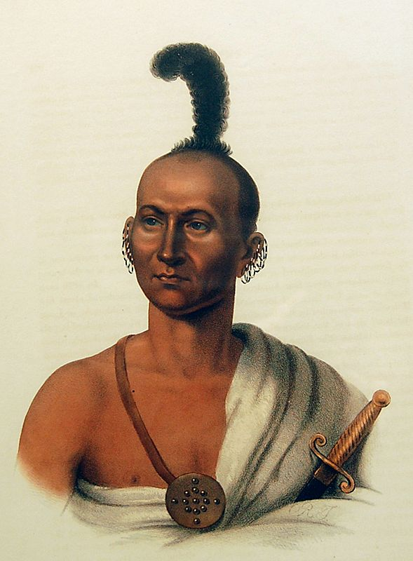Engraving  American Indian 1838 Philadelphia McKinney & Hall