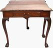 Carved Mahogany Table Signed Edwards & Roberts