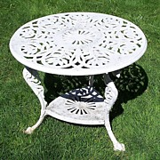 Round Table Cast Iron with Griffins Architectural