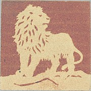 Wedgwood Etruria Pottery Tile with Lion