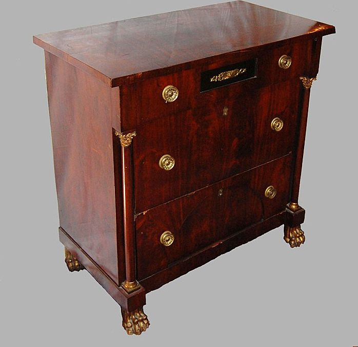Chest of Drawers Mahogany Empire Small Size