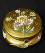 Box Miniature Glass with Gold Enamel & Flowers
