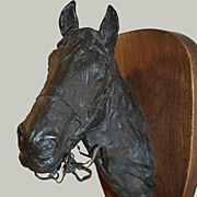 Horse Head Bronze  Signed by Sculptor