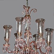 Crystal Chandelier Bohemian Pink Crystal with Shades