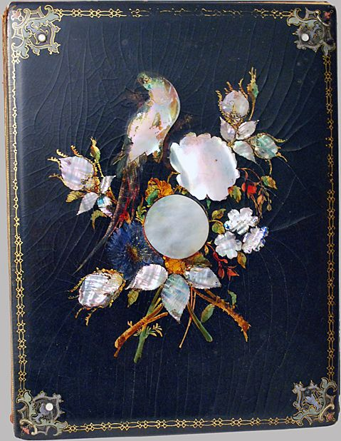 Inlaid Mother of Pearl Stationary Blotter Papier Mache