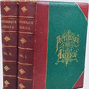 Picturesque America Leather Bound 2 Massive Albums