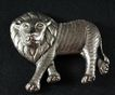 Brooch Pin Lion Form Sterling Silver Jewelry,Large Size