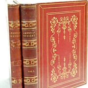 SALE Books American Scenery Leather Bound 2 Vol  1840 1st ed