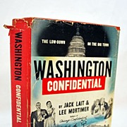 SALE Signed Book Washington Confidential Author Signed