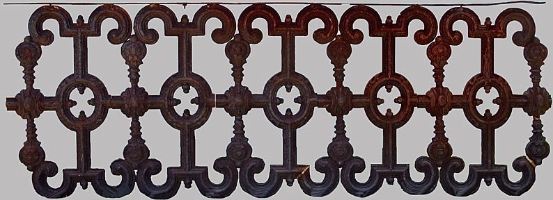 Cast Iron Garden Fence Victorian Ornamental