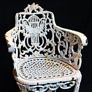Garden Chair Cast Iron 19th Century Classical Design