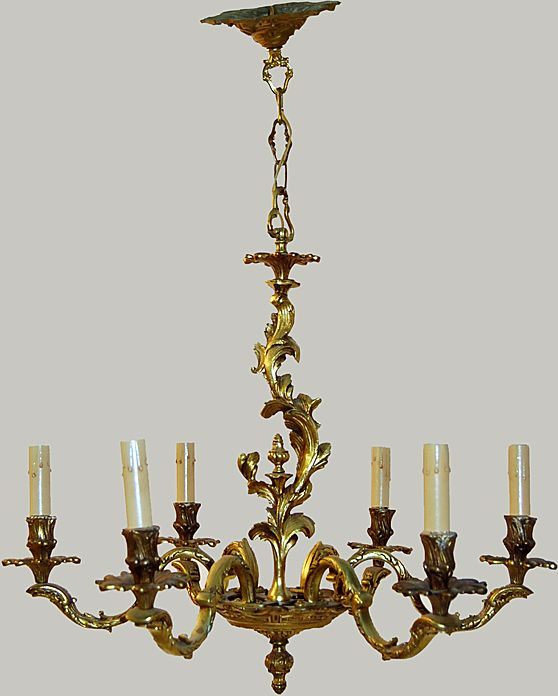 Chandelier Gilt Bronze French Design