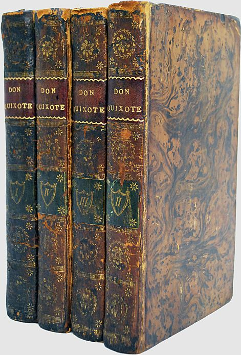 Don Quixote 1792  Fine Binding 4 Vol Set
