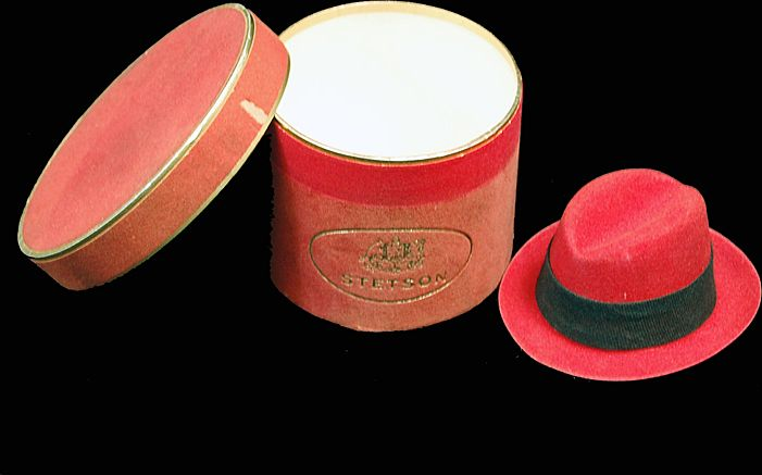Stetson Hat & Hat Box Advertising Promotion Miniature