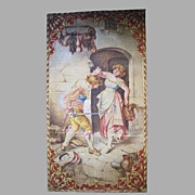 Painted Canvas Theatre Prop European Scene