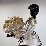 Italian Art Glass Figure of a Blackmoor