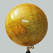 Antique World Globe on Stand  Phillips Terrestrial,Office ,Home ,Library
