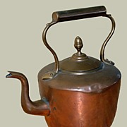 18th Century American Copper Kettle