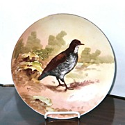 Antique Limoges France Porcelain Plate Hen,Artist Signed,Louis