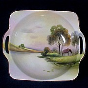 Nippon Hand Painted Bowl with Handles