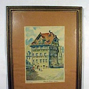 Watercolor of Albrecht Durer's House