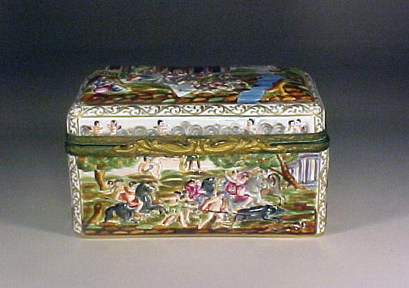 Fine German Porcelain Jewelry Casket Box