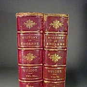 2 Volumes History of England by Guizot Books