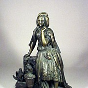 19th Century Rebecca at the Well Bronze