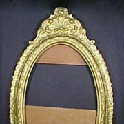 Large Antique Frame Carved Wood Gold Gilding