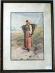 Fine Italian Painting Peasant Woman Watercolor