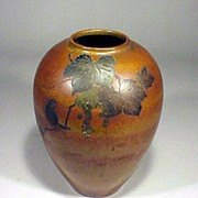 Japanese Vase Art Nouveau Bronze Mixed Metal