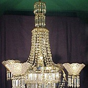 Crystal Chandelier Gas & Electric with Shades ,Crystal ,Spears