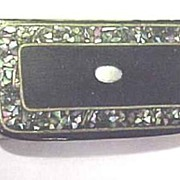 19th Century Lacquer,Inlaid Snuff Box