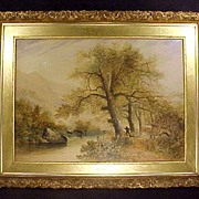 Wm Widgery WatercolorPainting Materpiece Elegant Gold Gilt Frame