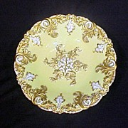 Elegant Ornate Yelow & Gold Enamel Meissen Bowl