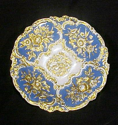 Meissen Bowl Blue & Gold Enamel