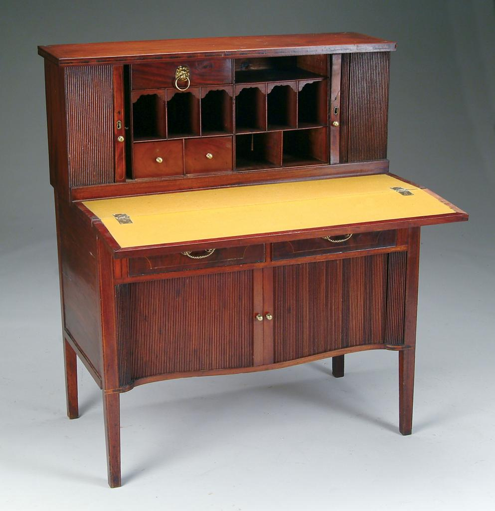 Desk Secretary Double Tambour Hepplewhite