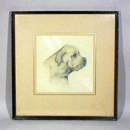 Dog Pencil Sketch in Frame