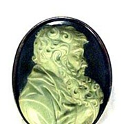 Antique Cameo Brooch Renaissance Man Jewelry