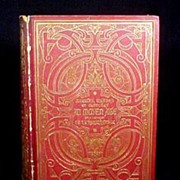 Antique French Book Leather Bound Gold Gilt,Fine Binding 1873