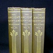 SALE PENDING Ancient Egyptians Books Gold Gilt 3Vol