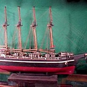 Ship Model Varuna Norwich Antique Hand Made