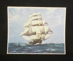 Clipper Ships Schooner Yachts Lithographs Portfolio