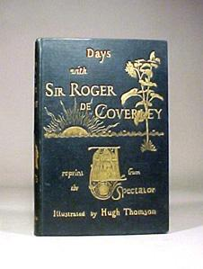 Antique Days Sir Roger De Coverley Gilt Book