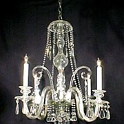 Irish Style Cut Crystal Chandelier Very Fine Lighting