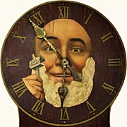 Antique Advertising Clock Easy Ready Safety Razor